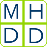 green and blue logo for mental health and developmental disability natinoal training center