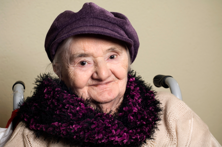 Older adult sitting in wheelchair